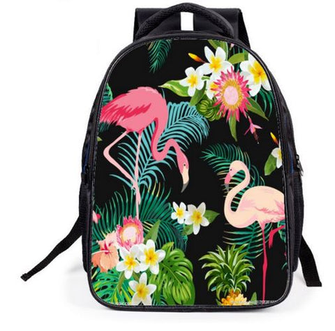 sac a dos flamant rose decor jungle caraibes