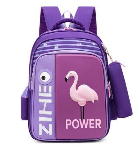 cartable original flamant rose violet parme lilas lavande