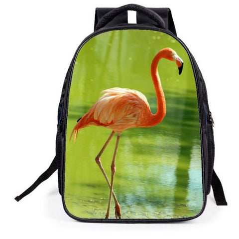 sac a dos flamant rose realiste mixte