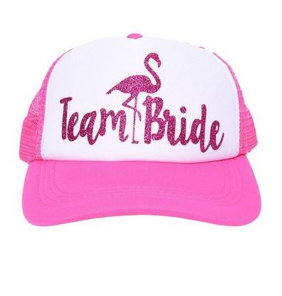 casquette rose paillette flamant rose