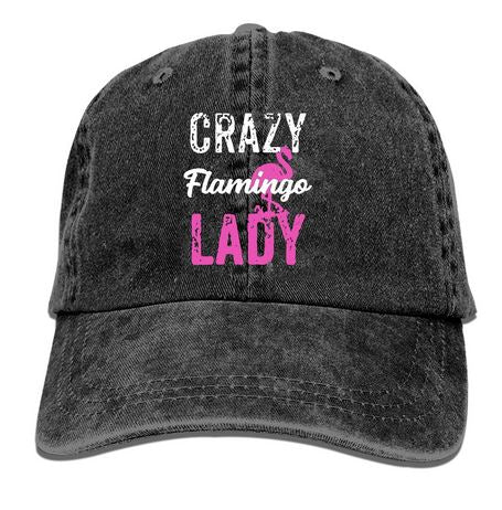 casquette message flamant rose adulte