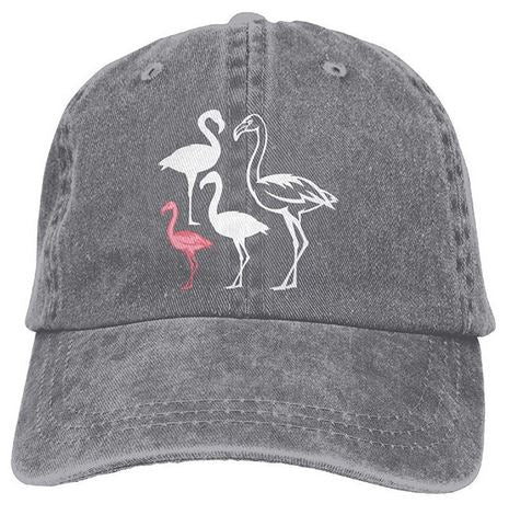casquette bebe flamant rose grise adulte