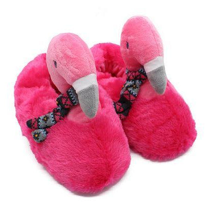 Chaussons Flamant Rose chauds