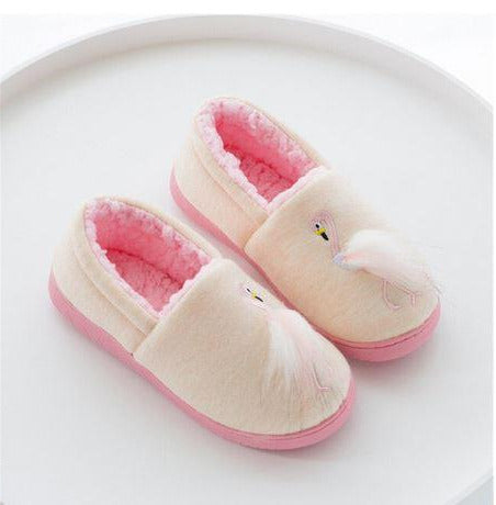 chaussons chauds pour ado flamant rose
