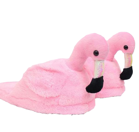 pantoufles Flamant Rose Brillants