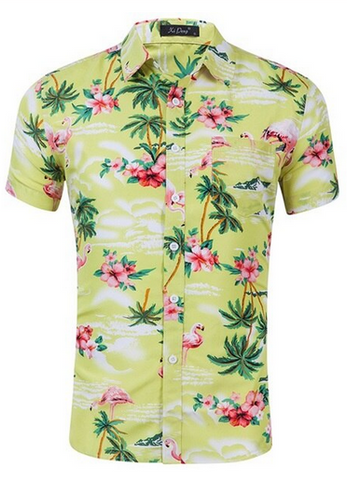 Chemise Flamant Rose Homme Sable