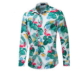 Chemise Manches Longues Flamant Rose