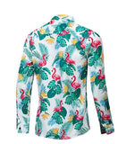 Chemise Manches Longues Flamant Rose Homme