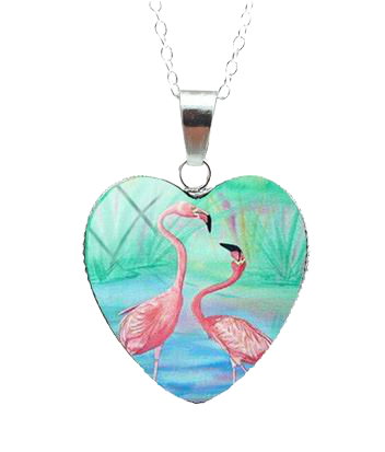 Collier Flamant Rose surprise