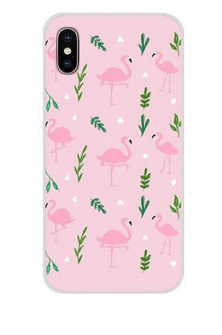 coque pour portable huawei flamant rose
