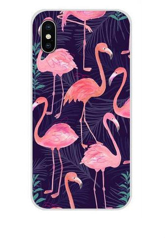 coque huawei pour homme flamant rose