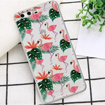 coque protection huawei flamant rose