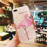 coque pour iphone 6 s plus flamant rose
