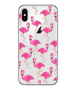etui telephone silicone iphone flamant rose