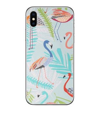 coque iphone XR flamant rose