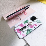 coque iphone avec bequille flamant rose