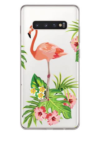 belle coque transparente anti choc flamant rose