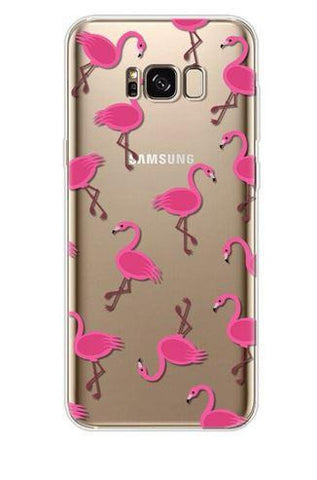 coque flamant rose transparente flamant rose fille
