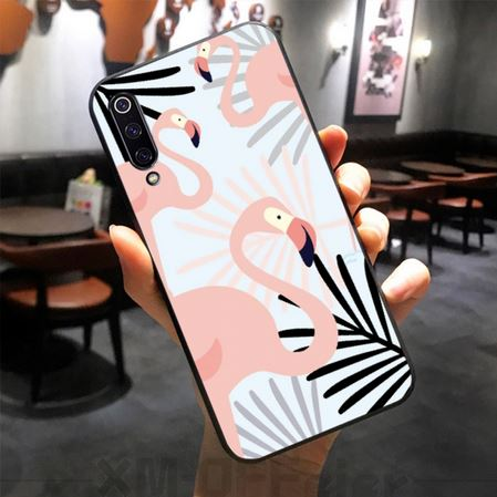 coque simple xiaomi jolis flamant rose