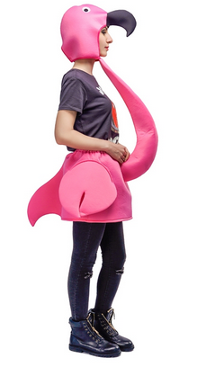 costume flamant rose pour adulte