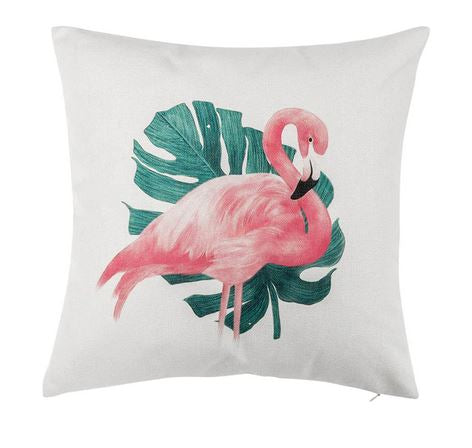Coussin Flamant Rose Bananier