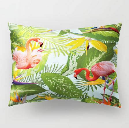 Coussin Rectangulaire Nature Flamant Rose