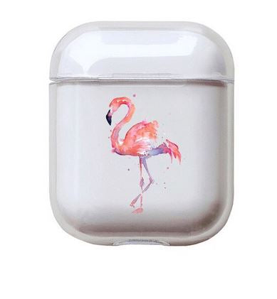 coque silicone pour chargeur airpods apple flamant rose