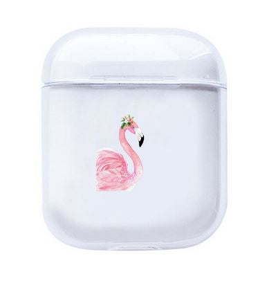 etui silicone pour airpods flamant rose tendance fille