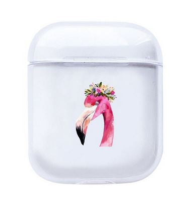 etui tendance pour chargeur airpods flamant rose