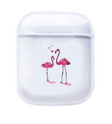etui chargeur airpods a offrir a ton valentin flamant rose