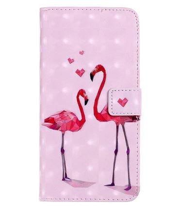 etui a clapet flamant rose pour iphone