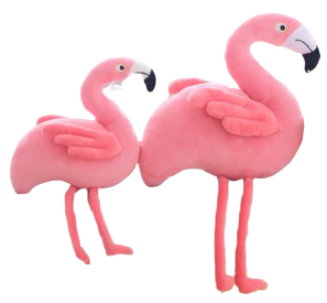 grande peluche flamant rose kawaii douce