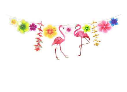 Guirlande Flamant Rose Tropical