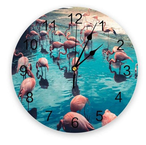 plus belle horloge flamant rose