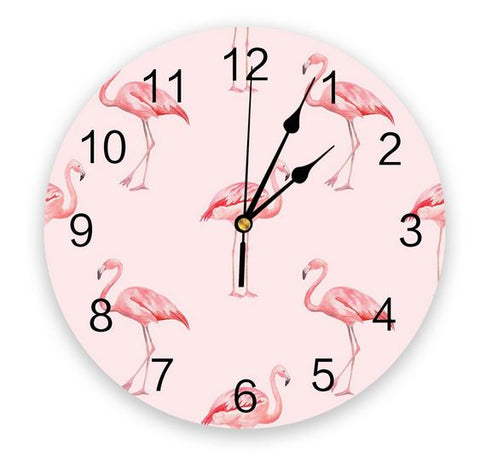 pendule flamant rose