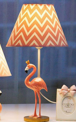 lampe flamant rose deco