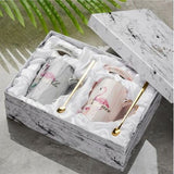 mugs flamant rose en coffret