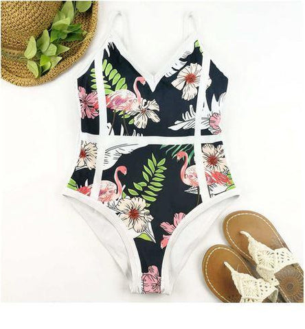 maillot dame chic flamant rose
