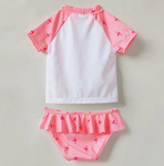 maillot protection enfant flamant rose