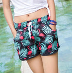 short de bain flamant rose pour fille