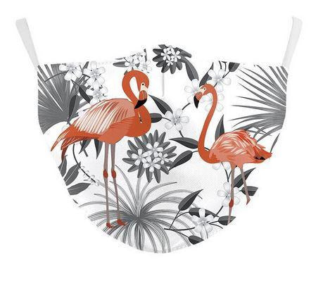 masque de protection covid flamant rose