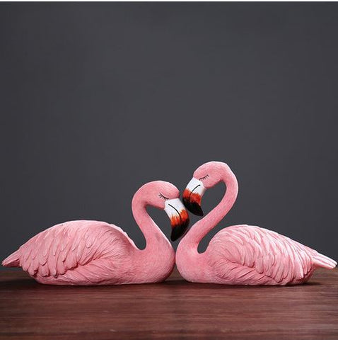 duo de flamant rose