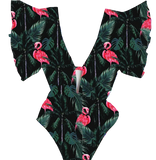 maillot monokini flamant rose tendance classe jet set pool party