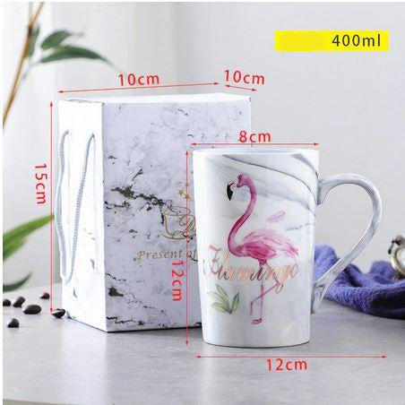 mug cafe flamant rose