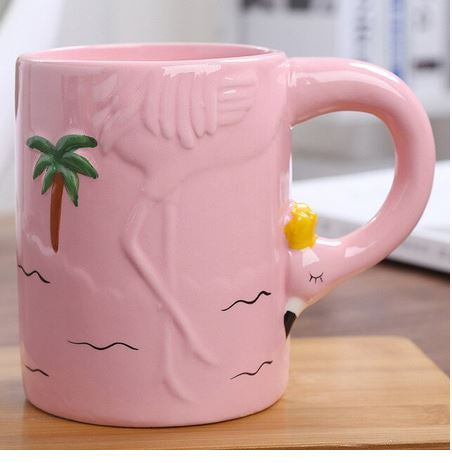 mug flamant rose 3d