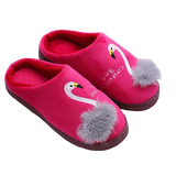 chaussons flamant rose confortable femme