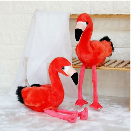 peluche flamant rose rouge