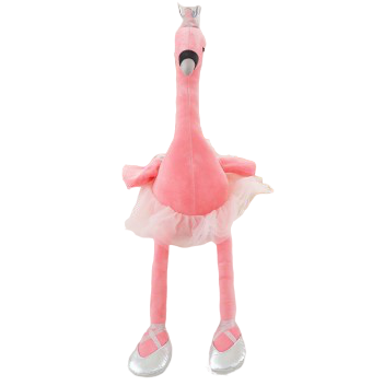 flamant rose danseuse en peluche