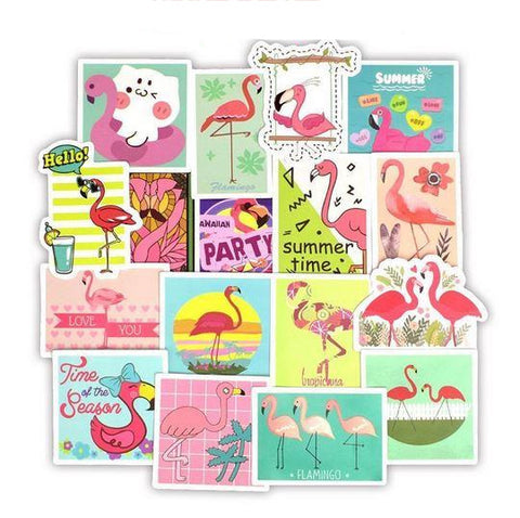 autocollant stickers flamant rose pour photo tendance