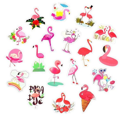 sticker flamant rose pour photo cahier